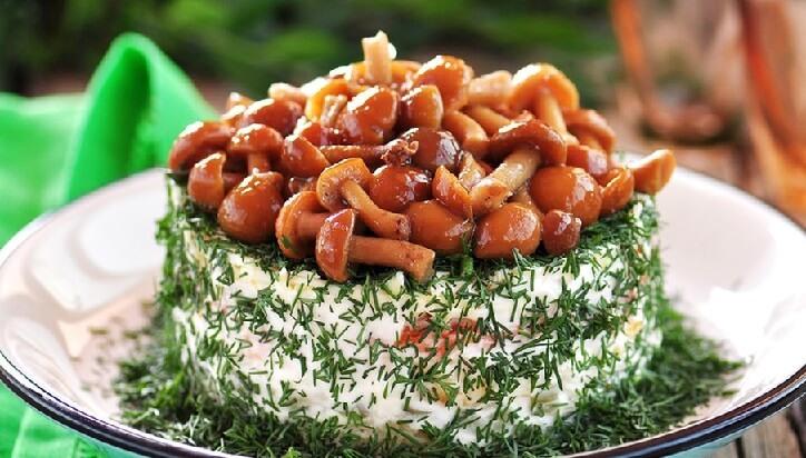 Рецепт салата грибная поляна: как приготовить
