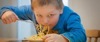 пищевые привычки детей