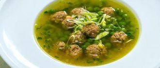 картофельный суп с фрикадельками рецепт